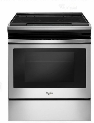 "WEE510S0FS 30"" Whirlpool 4.8 cu. ft. Slide-In Electric Range with Sabbath Mode - Stainless Steel"