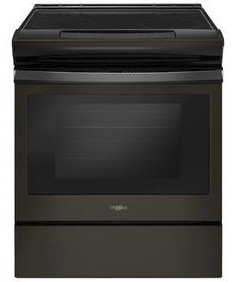 "WEE510S0FV 30"" Whirlpool 4.8 cu. ft. Slide-In Electric Range with Sabbath Mode - Black Stainless Steel"