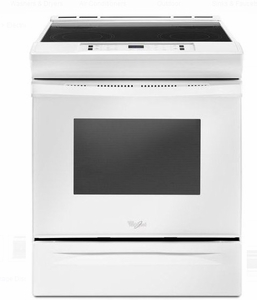 "WEE510S0FW 30"" Whirlpool 4.8 cu. ft. Slide-In Electric Range with Sabbath Mode - White"