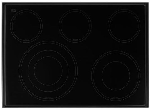 "WEE745H0FH Whirlpool 30"" Slide-In Electric Range with 5 Cooking Elements and 8,600 Watt Cooktop, 6.4 cu. ft. Convection Oven - White Ice"