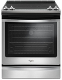 """WEE745H0FS Whirlpool 30"""" Slide-In Electric Range with 5 Cooking Elements and 8,600 Watt Cooktop, 6.4 cu. ft. Convection Oven - Stainless Steel"""