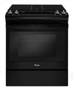 "WEG515S0FB 30"" Whirlpool 5.0 cu. ft. Slide-In Gas Range with Sabbath Mode - Black"