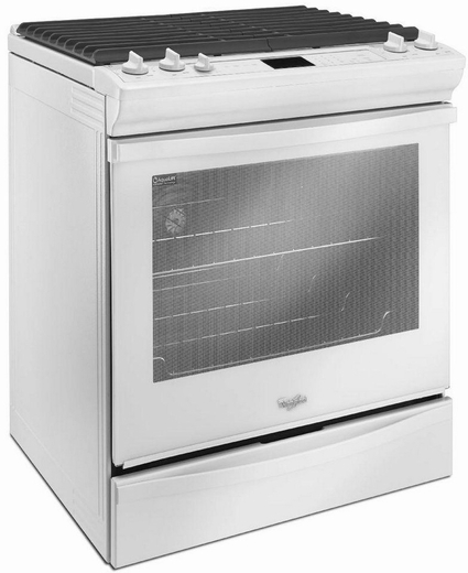 slidein gas range with timesavor convection white - Slide In Gas Range