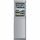 "WF1061 Liebherr 24"" Built-In Wine Storage/Freezer Combination with Icemaker - Left Hinge - Stainless Steel"