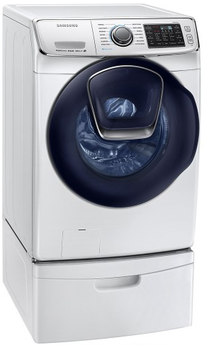 "WF45K6500AW Samsung 27"" Front Load Steam Washer with Smart Care and VRT Plus Technology - White"