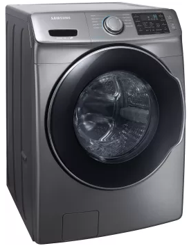 """WF45M5500AP Samsung 27"""" 4.5 cu. ft. Front Load Washer with VRT Plus Technology and Steam Wash - Platinum"""
