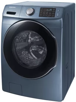 """WF45M5500AZ Samsung 27"""" 4.5 cu. ft. Front Load Washer with VRT Plus Technology and Steam Wash - Blue"""