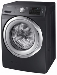 "WF45N5300AV Samsung 27"" Front Load 4.5 cu. ft. Washer with VRT Plus Capacity Technology and Smart Care - Black Stainless Steel"