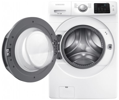 """WF45N5300AW Samsung 27"""" Front Load 4.5 cu. ft. Washer with VRT Plus Capacity Technology and Smart Care - White"""