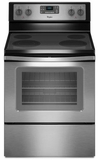 WFE515S0ES Whirlpool 5.3 Cu. Ft. Freestanding Electric Range with Easy Wipe Cooktop - Stainless Steel