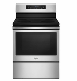 """WFE520S0FS 30"""" Whirlpool 5.3 Cu. Ft. Freestanding Electric Range with Storage Drawer and 4 Burners - Stainless Steel"""