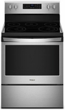 """WFE525S0HS Whirlpool 30"""" 5.3 Cu. Ft. Freestanding Electric Range with Frozen Bake and FlexHeat - Stainless Steel"""