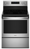 """WFE525S0HZ Whirlpool 30"""" 5.3 Cu. Ft. Freestanding Electric Range with Frozen Bake and FlexHeat - Fingerprint Resistant Stainless Steel"""