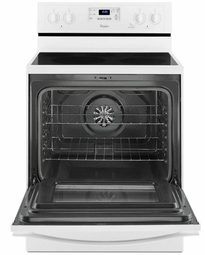 WFE530C0EW Whirlpool 5.3 Cu. Ft. Freestanding Electric Range with High-Heat Self-Cleaning System - White