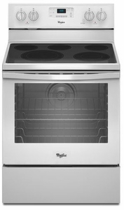 WFE540H0EW Whirlpool 6.4 Cu. Ft. Freestanding Electric Range with AquaLift Self-Cleaning Technology - White