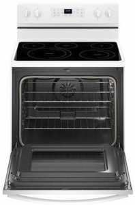 """WFE550S0HW Whirlpool 30"""" 5.3 Cu. Ft. Freestanding Electric Range with Self-Cleaning Mode and Fan Convection Cooking - White"""