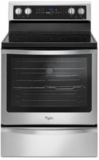 """WFE745H0FS Whirlpool 30"""" Electric Range with 6.4 cu. ft. Convection Oven with 5 Radiant Elements and 8,600 Watt Cooktop - Stainless Steel"""