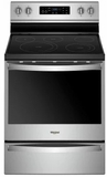 """WFE775H0HZ Whirlpool 30"""" 6.4 Cu. Ft. Freestanding Electric Range with Frozen Bake Technology and Aqualift - Stainless Steel"""