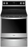 """WFE975H0HZ Whirlpool 30"""" 6.4 Cu. Ft. Freestanding Electric Range with True Convection and Voice Control - Stainless Steel"""