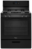 "WFG320M0BB Whirlpool 5.1 cu. ft. Freestanding 30"" Gas Range with Under-Oven Broiler - Black"