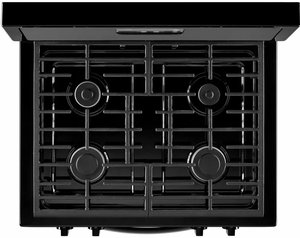 """WFG320M0BB Whirlpool 5.1 cu. ft. Freestanding 30"""" Gas Range with Under-Oven Broiler - Black"""