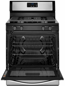 """WFG302M0BW Whirlpool 5.1 cu. ft. Freestanding 30"""" Gas Range with Under-Oven Broiler -White"""