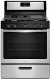 WFG505M0BS Whirlpool 5.1 cu. ft. Freestanding Gas Range with Five Burners - Stainless Steel