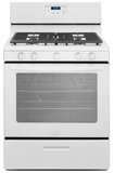 WFG505M0BW Whirlpool 5.1 cu. ft. Freestanding Gas Range with Five Burners - White