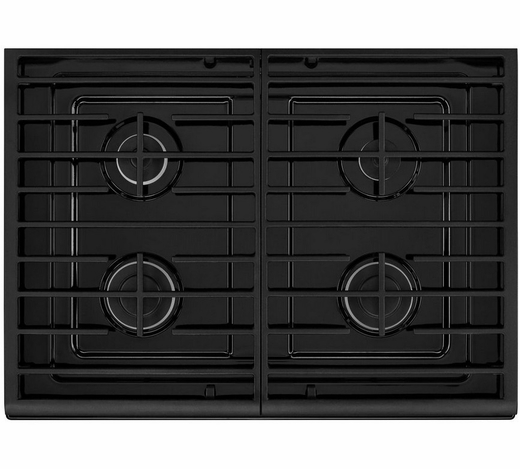 WFG515S0ES Whirlpool 5.0 Cu. Ft. Freestanding Gas Range with AccuBake Temperature Management System - Black on Stainless Steel