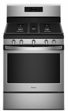 """WFG525S0HS Whirlpool 30"""" 5.0 Cu. Ft. Freestanding Electric Range with Frozen Bake and SpeedHeat Burner - Stainless Steel"""