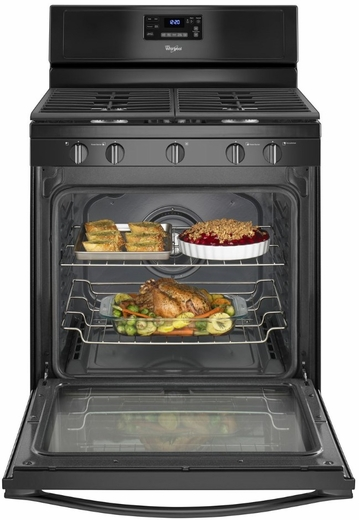 WFG540H0EB Whirlpool 5.8 Cu. Ft. Freestanding Counter Depth Gas Range with Center Burner - Black