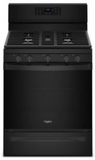 """WFG550S0HB Whirlpool 30"""" 5.0 Cu. Ft. Freestanding Gas Range with Self-Cleaning Mode and Fan Convection Cooking - Black"""