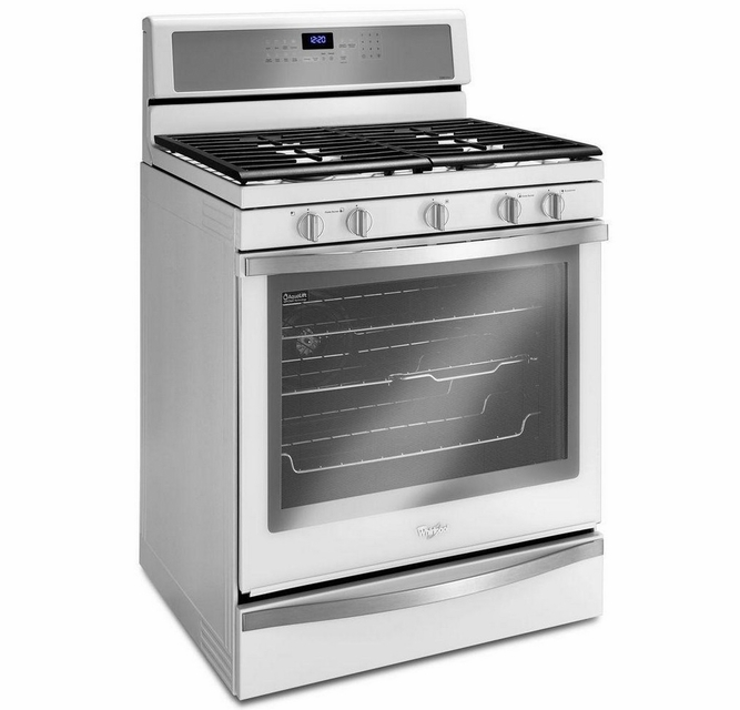 Wfg715h0eh Whirlpool 5 8 Cu Ft Freestanding Gas Range With