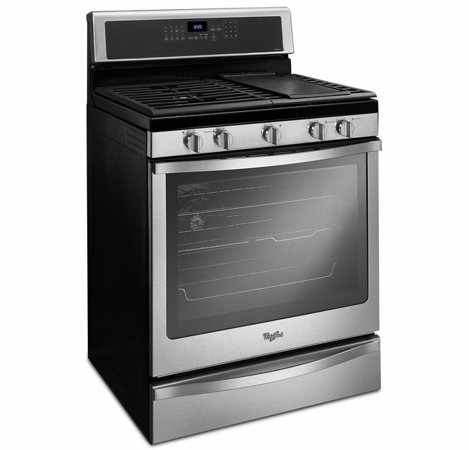 Wfg715h0es Whirlpool 5 8 Cu Ft Freestanding Gas Range With