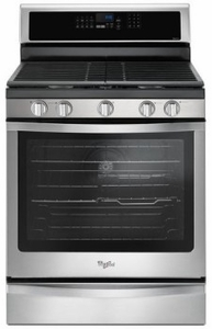 "WFG745H0FS Whirlpool 30"" Freestanding Gas Range with 5 Sealed Burners, EZ-2-Lift Hinged Cast-Iron Grates and 5.8 cu. ft. Convection Oven - Stainless Steel"