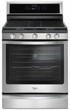 """WFG745H0FS Whirlpool 30"""" Freestanding Gas Range with 5 Sealed Burners, EZ-2-Lift Hinged Cast-Iron Grates and 5.8 cu. ft. Convection Oven - Stainless Steel"""