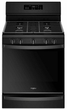 """WFG775H0HB Whirlpool 30"""" 5.8 Cu. Ft. Freestanding Gas Range with  Convection and FrozenBake Technology - Black"""
