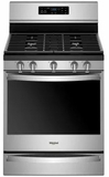 """WFG775H0HZ Whirlpool 30"""" 5.8 Cu. Ft. Freestanding Gas Range with  Convection and FrozenBake Technology - Stainless Steel"""
