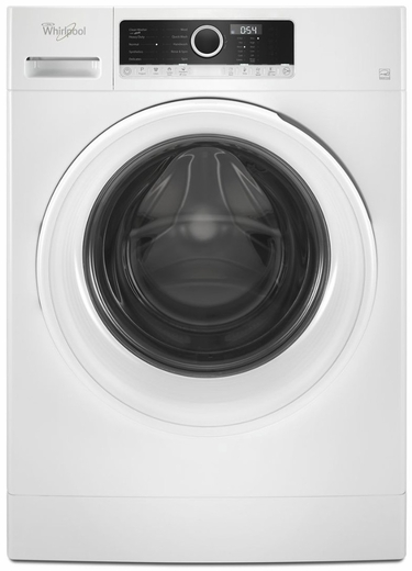 """WFW3090GW  Whirlpool 24"""" Compact Front Load Washer with TumbleFresh Option and Guided Mode  - White"""