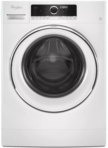 """WFW5090GW 24"""" Whirlpool 2.3 Cu. Ft. Compact Front Load Washer with Guided Mode and Prewash Option - White"""
