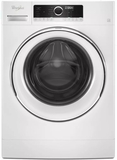 """WFW5090FW 24"""" Whirlpool 2.3 Cu. Ft. Compact Front Load Washer with Guided Mode and Prewash Option - White"""