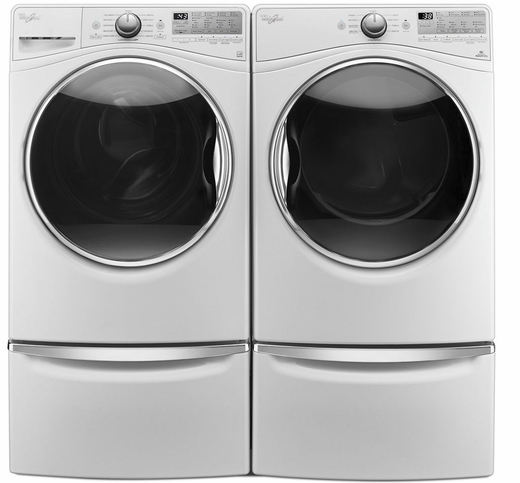 WFW92HEFW Whirlpool 4.5 Cu. Ft. Front Load Washer with Steam Clean Option - White