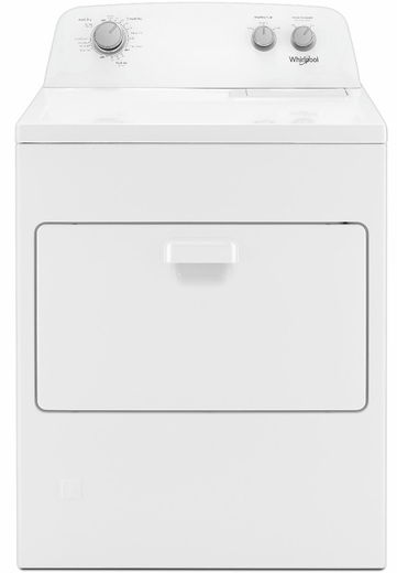 """WGD4850HW Whirlpool 29"""" 7.0 cu. ft Gas Dryer with AutoDry Drying System and Wrinkle Shield Option - White"""