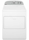 "WGD4950HW Whirlpool 29"" 7.0 cu. ft Gas Dryer with AutoDry Drying System and Wrinkle Shield Option - White"