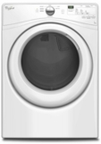 "WGD75HEFW Whirlpool 27"" 7.3 cu. ft. Duet® High Efficiency Front Load Gas Dryer - White"