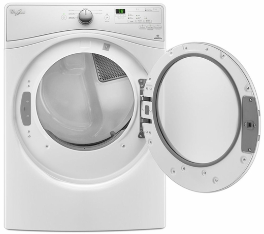 """WGD75HEFW Whirlpool 27"""" 7.3 cu. ft. Duet® High Efficiency Front Load Gas Dryer - White"""