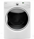 "WGD85HEFW 27"" Whirlpool 7.4 cu. ft. Front Load Gas Dryer with 8 Dry Cycles and EcoBoost - White"
