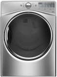 "WGD92HEFU Whirlpool 27"" 7.4 cu. ft. Gas Dryer with 10 Dry Cycles, Advanced Moisture Sensing System - Diamond Steel"
