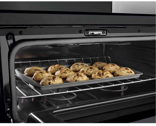 ft double oven electric range with accubake system stainless steel