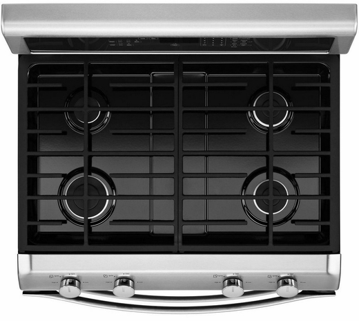 Wgg555s0bs Whirlpool 6 0 Total Cu  Ft  Double Oven Gas Range With Accubake System
